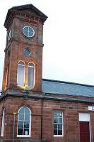 The station building and tower at Kilmarnock. The station was rebuilt some time after the line was extended south to Carlisle.<br><br>[Ewan Crawford&nbsp;03/04/2005]