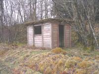 Derelict platelayers hut between Glenoglehead and Killin Junction.<br><br>[John Gray&nbsp;30/03/2005]