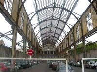 Scene under the overall roof of the sadly abandoned Gare du Sud in Nice in April 2007. The area within the shell of the building is currently in use as a car park, although restoration plans are in the pipeline.<br> <br><br>[Mark Poustie&nbsp;13/04/2007]