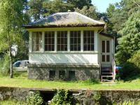 Replica of original signal box at the original Crathes station on the Deeside line in July 2008. (Not to be confused with Milton of Crathes on the Royal Deeside preserved railway.)<br><br>[John Williamson&nbsp;28/07/2008]
