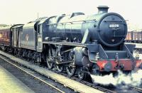 Black 5 4-6-0 45170 of 64C Dalry Road shed about to leave Stirling with a train for Edinburgh Princes Street in 1960. <br><br>[Colin Miller&nbsp;//1960]