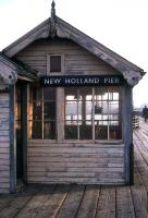 The signal box on New Holland Pier, photographed in 1975. The 1849 station finally closed in 1981, along with the ferry service to Hull Victoria Pier, following the opening of the Humber Suspension Bridge. <br><br>[Ian Dinmore&nbsp;//1975]