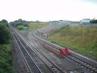 This junction on the Great Western main line just to the east of Swindon serves the rail terminal that opened in 2000.<br><br>[Mark Bartlett&nbsp;27/07/2008]