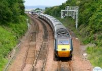 The 0950 NXEC Aberdeen - Kings Cross HST heads south from Dalmeny on 26 June. <br><br>[John Furnevel&nbsp;26/06/2008]