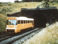 Leyland Experimental Vehicle LEV1 emerging from Stanton Tunnel on the Old Dalby test track in 1980.<br><br>[Ian Dinmore&nbsp;//1980]