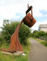 Memento of times past. Impressive sculpture alongside the trackbed heading west from Bathgate towards Armadale near the site of the former Polkemmet Junction. Photographed looking back towards Bathgate in July 2008. <br><br>[John Furnevel&nbsp;31/07/2008]