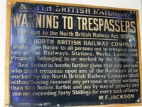 NBR notice warning of trespassing at Brechin Station<br><br>[Colin Harkins&nbsp;22/06/2008]