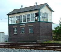 Signal box at Cosford on the line between Wolverhampton and Shrewsbury, photographed in 2003.<br><br>[Don Smith //2003]