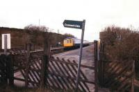 DMU on the Settle and Carlisle calls at Horton-in-Ribblesdale in April 1987.<br><br>[Ian Dinmore&nbsp;11/04/1987]
