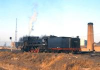 JS6096 near the depot at Daan Bei, Inner Mongolia, in April 2000.<br><br>[Peter Todd&nbsp;/04/2000]