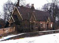 The distinctly <I>creepy-looking</I> 1866 station at Rowfant, in rural West Sussex, photographed in 1974, almost 7 years after closure. [With thanks to David Goldsmith] <br><br>[Ian Dinmore&nbsp;//1974]