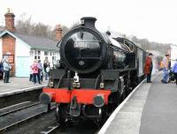 The cleaners at Grosmont shed have done a superb job in turning out immaculate looking B1 61264, seen with a southbound train on 3 April 2008. Next - the real challenge - that gentleman's coat! [See image 27223] <br><br>[John Furnevel&nbsp;03/04/2008]