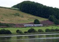 FSR 158 passing the still waters of Lindores Loch on the journey south to Edinburgh on 7 August 2008.<br><br>[Brian Forbes&nbsp;07/08/2008]