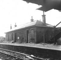 Opened in 1862 by the Bathgate & Coatbridge Railway as Clarkston, the station name was changed to Clarkston (Lanarks) by BR in June 1953, three years before closure. Seen here looking west in 1962, the station was located on the eastern edge of Airdrie, close to the present day Drumgelloch.<br><br>[Colin Miller&nbsp;//1962]