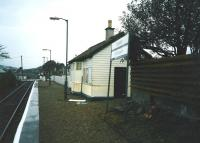 Looking west towards Mallaig from the platform at Corpach in May 1998.<br><br>[David Panton&nbsp;/05/1998]