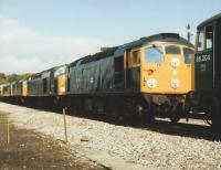 26019 flanked by 40106 & 86204 at Carlisle Upperby on 12 September 1982.<br><br>[Colin Alexander&nbsp;12/09/1982]