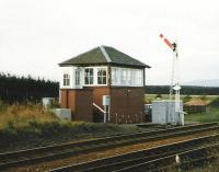 The signal box at Craigo in October 1998 looking north.<br><br>[David Panton&nbsp;/10/1998]