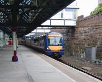The east side through platform no 1 at Dundee on 31 July 2008, with 170 412 ready to leave with an Aberdeen - Glasgow Queen Street service. <br><br>[David Panton&nbsp;31/07/2008]