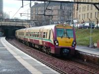 A Springburn train, formed by 334 012, at Duke Street on 12 January 2008.<br><br>[David Panton&nbsp;12/01/2008]