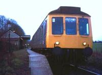 Evening train from Princes Risborough to Aylesbury leaving Little Kimble in 1974.<br><br>[Ian Dinmore&nbsp;//1974]