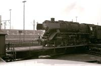 DB 044-508 photographed coming on shed at Gelsenkirchen Bismarck on 26 March 1977.<br><br>[Peter Todd&nbsp;26/03/1977]