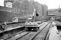 Photograph taken looking along platform 6 at Aberdeen in the Autumn of 1973 as a pair of Swindon class 120 DMUs leaves with an Inverness service from platform 9, thus avoiding the major redevelopment work affecting much of the north end of the station at that time.<br><br>[John McIntyre&nbsp;//1973]