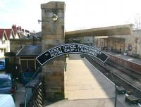 Entrance to Pickering station for visitors arriving via the footpath and overbridge from the NYMR car park in April 2008. If current plans come to fruition the station could soon see work underway on a new overall roof here. <br><br>[John Furnevel&nbsp;02/04/2008]