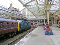 Deltic 55.022 in Helensburgh Central with SRPS tour<br><br>[John Robin&nbsp;24/08/2008]