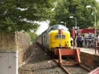 55022 <I>Royal Scots Grey</I> at the buffer stops at Paisley Canal during the SRPS <I>Routes & Branches</I> tour on 24 August 2008.<br><br>[Graham Morgan&nbsp;24/08/2008]