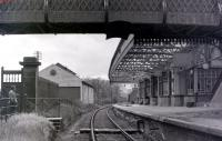 Casting a wistful look over Doune station. View west in May 1967, some 18 months after closure.<br><br>[Colin Miller&nbsp;/05/1967]