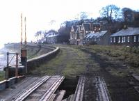 Looking east along the trackbed of the Granton Harbour branch in May 1986. View from Wardie, towards Newhaven.<br><br>[David Panton&nbsp;11/05/1986]
