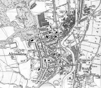 <B> Alexandria </B> Map of 1923 showing LMSR/LNER Joint Line with Alexandria Station. This line had many works branches to the Argyll Motor Works and to many of the fabric print and dying works along the Vale of Leven.<br><br>[Alistair MacKenzie&nbsp;28/08/2008]