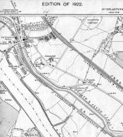 <B>Old Kilpatrick</B> Map of 1922 showing CR line at Old Kilpatrick and NBR alternative route which included Kilpatrick Station. My working life started in the Dunbarton County Architects Office in Ferry Road next to the, by then, closed station. The line had become a branch by then and there was a wagon repair facility next to our offices, the end of the branch line.<br><br>[Alistair MacKenzie&nbsp;28/08/2008]