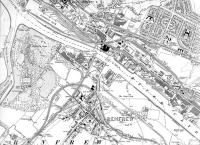 <B>Map of 1909 </B> to 1934 showing lines in Yoker and Renfrew.<br><br>[Alistair MacKenzie&nbsp;28/08/2008]