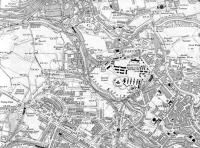 <B>Maryhill </B> Map of 1914 showing Maryhill, Dawsholm, Kirklee and Kelvinside Stations. Also showing are the former Maryhill Military Barracks.<br><br>[Alistair MacKenzie&nbsp;29/08/2008]