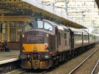 37248 at the rear of the Royal Scotsman as it heads for Wemyss Bay while passing through Paisley Gilmour Street<br><br>[Graham Morgan&nbsp;29/08/2008]
