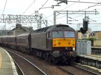 47787 passing through Paisley Gilmour Street at the head of the Royal Scotsman as it heads for Wemyss Bay<br><br>[Graham Morgan&nbsp;29/08/2008]