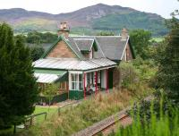 The former station at Edderton, Ross-shire (1864), attractively converted for private use, seen here looking towards Bonar Bridge on 30 August 2007. Passenger services were withdawn from Edderton in June 1960. <br><br>[John Furnevel&nbsp;30/08/2007]