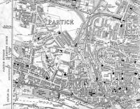 <B>Partick Area</B> Map of 1914 showing Hyndland, Crow Road, Partick and Partick West Stations also Merklands Wharf.<br><br>[Alistair MacKenzie&nbsp;01/09/2008]