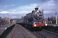J37 No 64569 at Anstruther with the RCTS <I>Fife Coast Railtour</I> in August 1965.<br><br>[G W Robin&nbsp;28/08/1965]