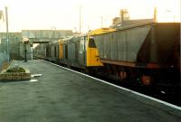 A couple of class 20s head into the sunset with coal empties at Kilwinning in 1989.<br><br>[Ewan Crawford&nbsp;//1989]