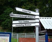 New sign at Inverkelting station on 30 August 2008.<br><br>[David Panton&nbsp;30/08/2008]