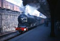 J37 64602, at the head of a Fife excursion special, waiting to leave Dundee in the 1960s.<br><br>[Robin Barbour Collection (Courtesy Bruce McCartney)&nbsp;//]