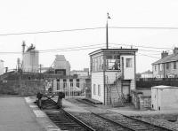 Signal box and crossing at Tralee, County Kerry, in 1988.<br><br>[Bill Roberton&nbsp;//1988]