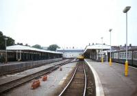 Pre-electrification scene at Kings Lynn in 1981 looking towards the buffer stops.<br><br>[Ian Dinmore&nbsp;//1981]