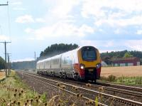 Cross Country Trains class 221 Voyager with the 0730 Bournemouth to Aberdeen passing Sweetholm Farm on 4 September.<br><br>[Brian Forbes&nbsp;04/09/2008]
