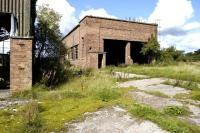 The old locomotive shed at Comrie Colliery on 4 September 2008. Little else remains of the former colliery itself or the adjacent Rexco smokeless fuel plant, both of which were officially closed in 1986. <br><br>[Bill Roberton&nbsp;04/09/2008]