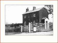 An old picture of Nateby Crossing Cottage, on the Garstang & Knott End Railway, at the turn of the last century, [see image 18317] recently submitted to a local newspaper in North Lancashire. [Courtesy Mrs Soar of Pilling].<br><br>[Mark Bartlett collection&nbsp;//1900]