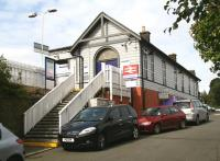 The station building on the up side at North Queensferry on 8 September 2008.  <br><br>[John Furnevel&nbsp;08/09/2008]