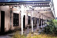 The semi-derelict station at Strathpeffer seen in 1970, prior to its refurbishment and rebirth as a shopping and leisure venue.<br><br>[Colin Miller&nbsp;//1970]